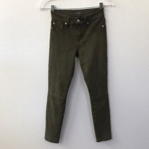 7 For All Mankind Army Green Pants